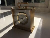 Seiko gold finish carriage clock