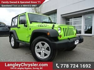 2013 Jeep Wrangler Sport ACCIDENT FREE w/ 4X4, SOFT TOP & TOW...