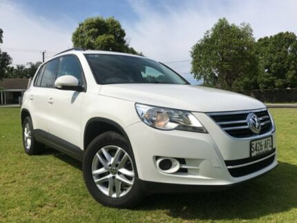 2009 Volkswagen Tiguan 5N MY10 103TDI 4MOTION White 6 Speed Sports Automatic Wagon Somerton Park Holdfast Bay Preview