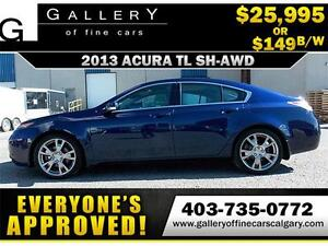2013 Acura TL SH-AWD $149 bi-weekly APPLY NOW DRIVE NOW