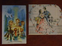 Antique greeting card collection