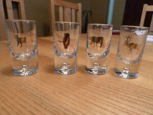 Set of $ NEW Woodland Shot Glasses from Chapters In Packaging