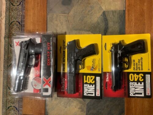 Lot of 3 in package Spring Powered .177 BB Pistols