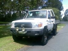 2007 Toyota Landcruiser VDJ79R Workmate White 5 Speed Manual Cab Chassis Southport Gold Coast City Preview