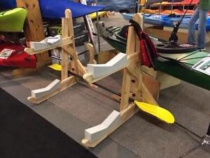 Two level Cedar Kayak Racks