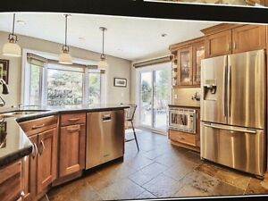 Kitchen Cabinets Cherry Wood with Granite countertops