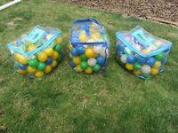 Soft Play coloured Balls x 3 Bags