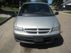 2000 Dodge Caravan black Minivan, Van