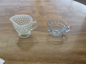 CLEAR BUBBLE GLASS DISHES- WHITE TRIM Moose Jaw Regina Area image 2