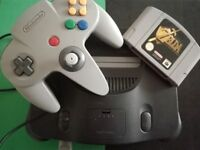 Nintendo 64 console + The Legend of Zelda Ocarina of Time
