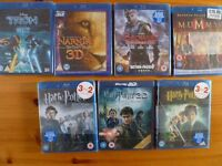 9 Blu rays-brand new sealed 5 pounds each or 30.00 pounds for the lot