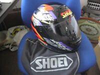 SHOEI TXR MOTORCYCLE MOTORBIKE HELMET WITH MATCHING HELMET BAG 57 CM