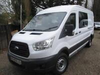 2014 Ford Transit 2.2TDCi 9 SEATER CREW 350 L3H3 GUARANTEED MILES NO VAT
