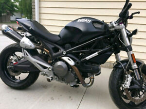 MINT 2009 Ducati 696 with Termi Exhaust