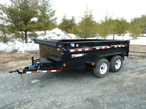 "(new) P.J. 78""X12'  Medium-duty Dump Trailer #995"