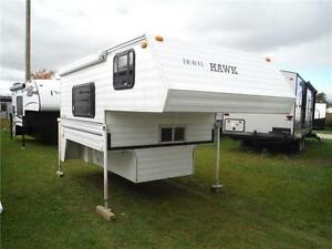 1997 Travel Hawk 8.5 Canadian made Truck Camper with toilet