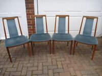 Stunning G Plan Dining Chairs with Original Upholstery