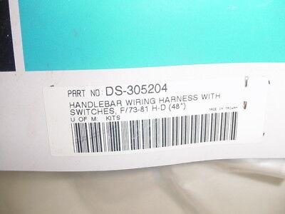 HANDLEBAR WIRING HARNESS SWITCHES HARLEY SHOVELHEAD XL FL FX 73-81 NEW LH