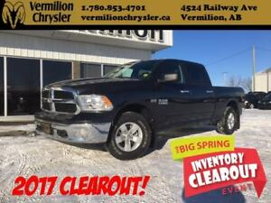 2017 Ram 1500 SLT, Bucket Seats, Remote Start, 8.4 Radio