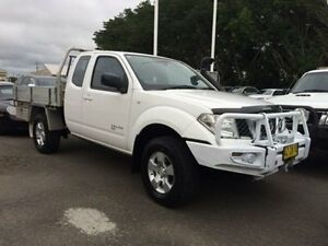 2009 Nissan Navara D40 RX (4x4) White 5 Speed Automatic King C/Chas Georgetown Newcastle Area Preview
