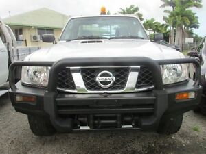 2010 Nissan Patrol GU 6 MY10 DX White 5 Speed Manual Cab Chassis Mackay Mackay City Preview