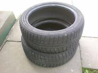 205/45R17 Winter tires x 2, £20 for pair, contact 07763119188