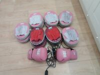 Boxing pads, Gloves and skipping rope