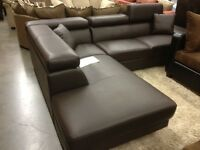 LEATHER SECTIONAL -60% OFF! $1888!–LOWEST PRICES GUARANTEED!!!