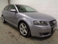 AUDI A3 3.2 V6 QUATTRO , 2005 , 11 MONTHS MOT , FINANCE AVAILABLE , WARRANTY , GREAT CONDITION
