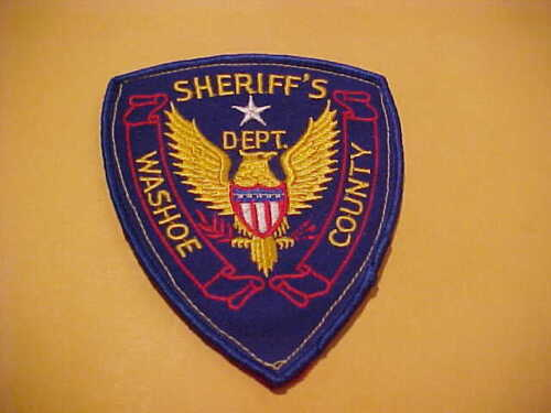 WASHOE COUNTY NEVADA POLICE PATCH SHOULDER SIZE UNUSED