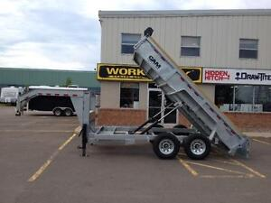 "2015 Cam Advantage 6'8"" x 14' HD Gooseneck Dump Trailer"