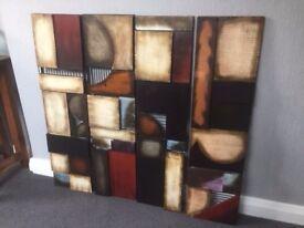 Modern metallic wall art designs