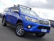 2017 Toyota Hilux GUN126R SR5 Double Cab Nebula Blue 6 Speed Sports Automatic Utility Strathmore Heights Moonee Valley Preview