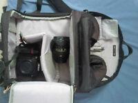 Lowepro 350 Camera bag, Velbon sherpa tripop and lens filters