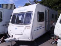 2009 six berth Bailey Ranger 620/6 GT60 FIXED DOUBLE BED, BUNK BEDS. Inc Awning.
