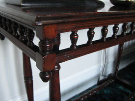 GALLERIED LIBRARY TABLE