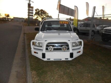 2007 Ford Ranger PJ XL White 5 Speed Manual Trayback Garbutt Townsville City Preview
