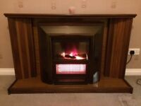 Wood Fire Surround with Electric Fire