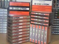 TDK D CASSETTE TAPES x 21 JOB LOT W/ CASES : USED ONCE ONLY. 1979-1982 ISSUE. See images for offers.