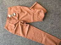 Next Womens Brown Tapered Trousers - Tags Still On