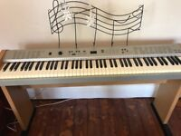 Electric Piano Keyboard PDP-100 Treble Clef Music stand attached Good condition