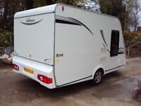 COMPASS VENTURE 304 2011' 13FT CARAVAN 4 BERTH ONLY 916KG, MOTOR MOVER,