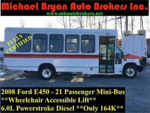 2008 FORD E450 21 PASSENGER BUS *WHEEL CHAIR ACCESSIBLE* 164K