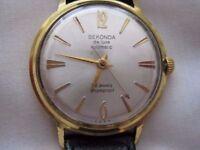 Vintage Rare Sekonda De Luxe 29 Jewel Automatic Mens Watch .