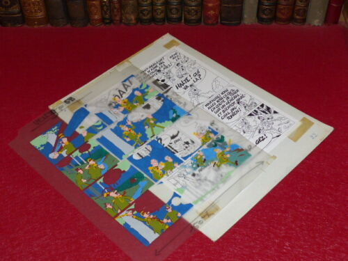 [Comics] Martial/TONY LAFLAMME Volapük Board Colours Celluloid Original 1974 -12