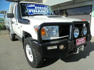 2014 Toyota Landcruiser VDJ79R MY13 Workmate White 5 Speed Manual Cab Chassis Edwardstown Marion Area Preview