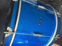 c&c date 1 , drum kit, drums in blue sparkle, gretsch slingerland Ludwig