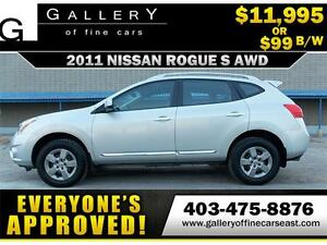 2011 Nissan Rogue S AWD $99 BI-WEEKLY APPLY NOW DRIVE NOW
