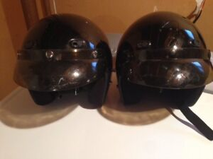 Two Motorcycle helmets XS