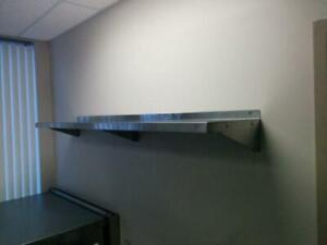 Tablette Murale En Acier Inoxydable - Stainless Steel Wall Mount Shelving. All Sizes Available- New!